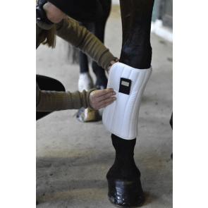 Rider by horse bandageunderlag hvid
