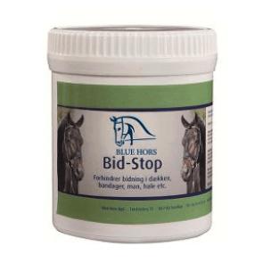 Blue hors bite stop