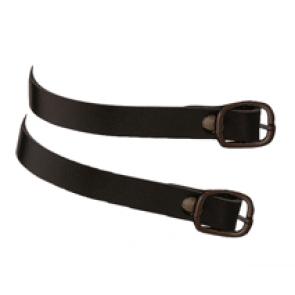 HS sort læder sporeremme med sort spænde