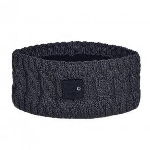 Kingsland Marina Ladies Cable Knitted Headband Grey Asphalt